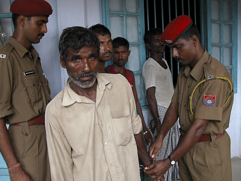 Illegal Bangladeshi Immigrants caught on Indian Border