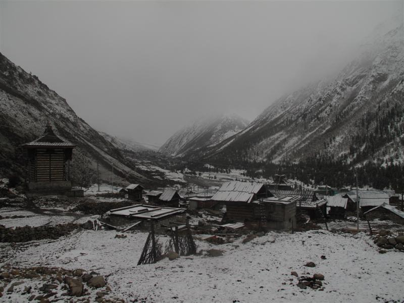 Snow covered Chitkul