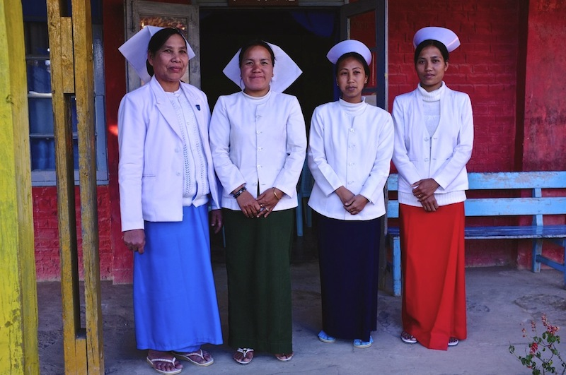 Nurses at Hakha Eye Centre