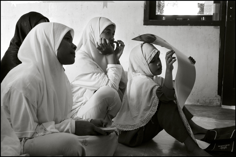 Girls during the English lesson at an orphanage in Banda Aceh Indonesia