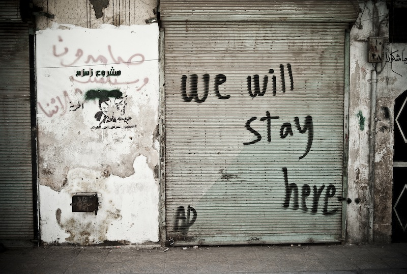 We will stay here...