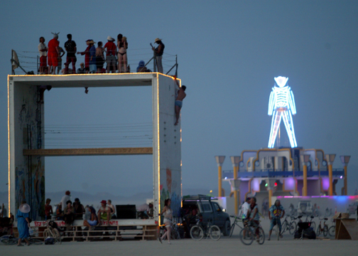Evening view Burning Man 2006