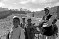 Boys, village of Sheik Yassin - Wardak