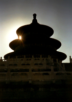 Sunset over Temple of Heaven
