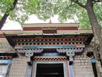 Entrance at the Norbulingka Institute, Traditionl decoration.