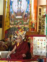 His Holiness The Dalai Lama during the Teachings