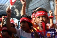 Children at Red shirt protests