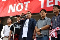 Red shirt protest leaders