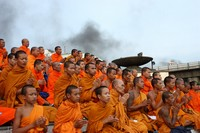 Buddhist Monks chanting for peace