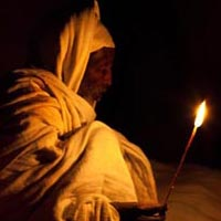 Prayer in Lalibela during Genna, Ethiopia