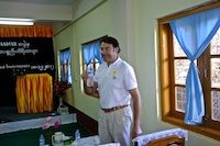 Dr James Muecke following the donation ceremony at Hakha Eye Centre