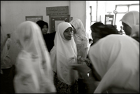 Students of the Fajar Hidayah organization after the morning class at an orphanage in Banda Aceh Indonesia