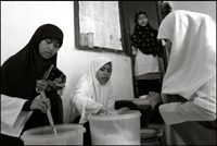 Girls having lunch at an orphanage in Banda Aceh Indonesia