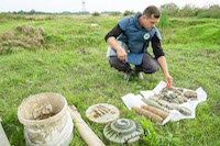 Landmines and unexploded ordinance from the Bosnian War await controlled destruction