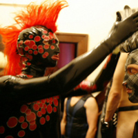 Backstage at the Fetish Ball