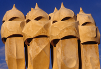 4 Masked men - Gaudi's chimneys