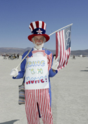 War Protestor as Uncle Sam